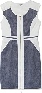 Sandra Darren Women's 1 Pc Extended Shoulder Crepe Denim Dress