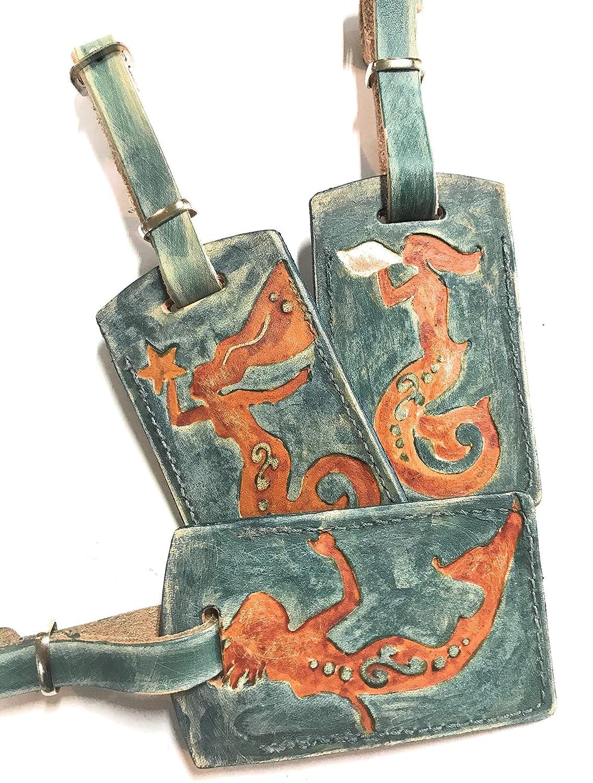 Boho Sea Life Max 90% OFF Mermaid Challenge the lowest price of Japan ☆ Tag Leather Luggage