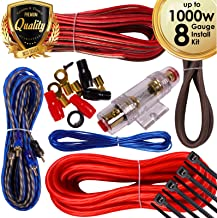 Complete 1000W Gravity 8 Gauge Amplifier Installation Wiring Kit Amp Pk1 8 Ga Red - for Installer and DIY Hobbyist - Perfect for Car/Truck/Motorcycle/Rv/ATV