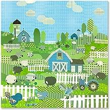 oopsy Daisy ، Fine Art للأطفال العد غنم و birdies ، باللون الأزرق Stretched Canvas Art بواسطة winborg والأخوات 21بواسطة 53.34سم