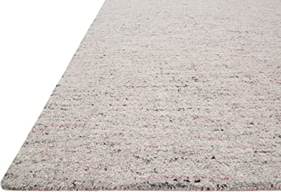 "Loloi Klein Collection Area Rug, 9'-3"" X 13', Grey/Coral"