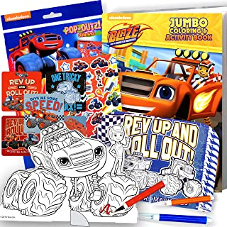 Blaze and The Monster Machines Coloring Book and Stickers