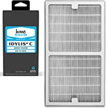 Home Revolution Replacement HEPA Filter, Fits Idylis IAP-10-200 and IAP-10-280 Air Purifiers and Type C Parts 0412555 and ...