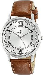 ساعة كاريشما بمينا فضي وعرض انالوج للرجال من تيتان