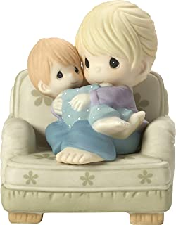 Precious Moments Nestled in Your Love Mother & Son In Chair Bisque Porcelain Home Decor Collectible Figurine 173019,Multic...
