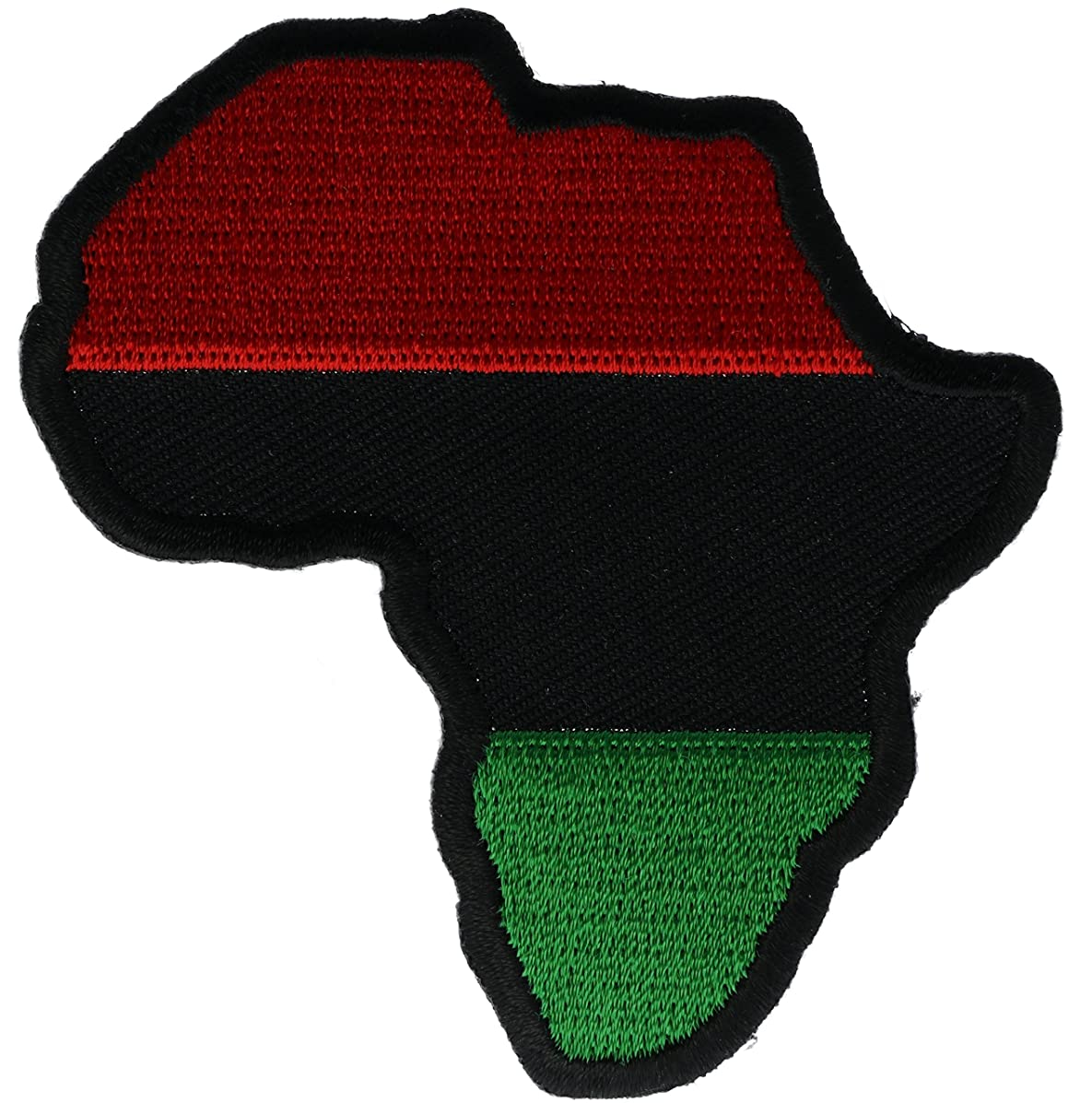Pan Africa African Red Black Green Continent Cutout 3 inch Patch IVANP1527