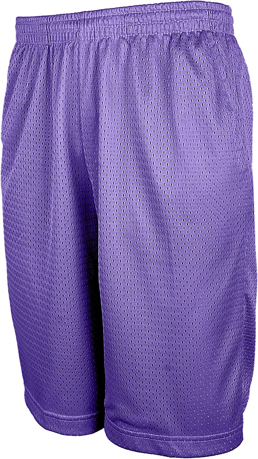TL Men's Athletic Gym Workout Shorts with Pockets, Lightweight Mesh or Dazzle Basketball Shorts in Packs or Single