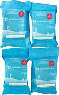 Fresh Feet Wipes - Peppermint - 25 count - Set of 4 - by Jasmine Seven - All Natural