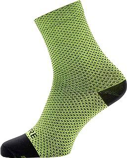 C3 Calcetines para ciclismo unisex, Talla: 41-43, Color: amarillo neón/negro