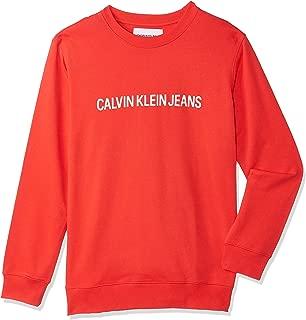 Calvin Klein sweatshirt for men in Tomato, Size:XL