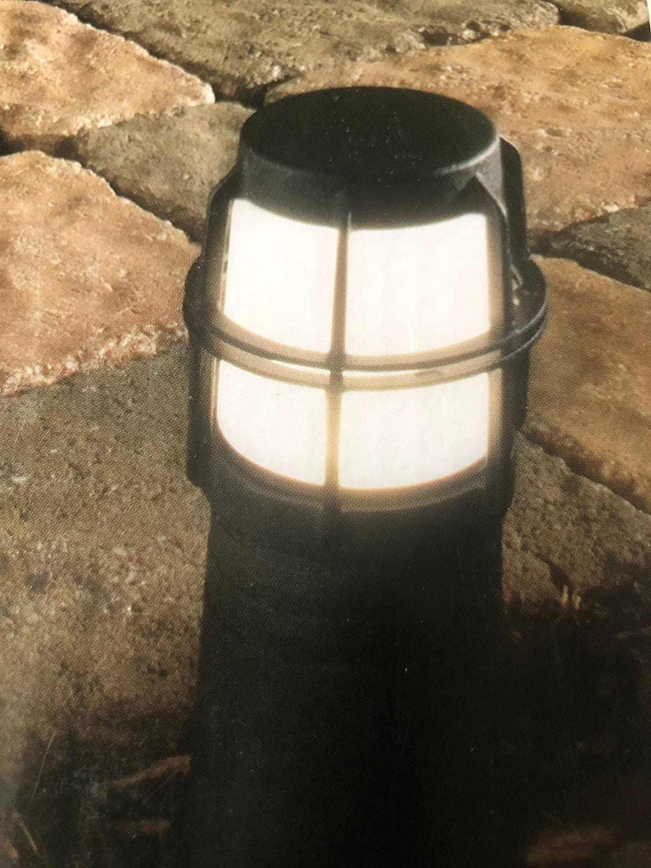 Hampton Bay Manufacturer regenerated product Low-Voltage LED Light Bollard Black Cheap super special price