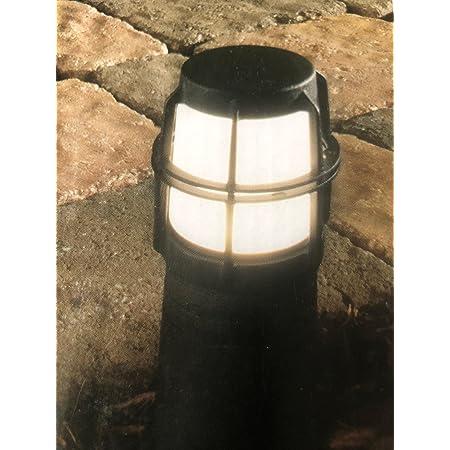 Hampton Bay Low Voltage Led Black Bollard Light Amazon Com