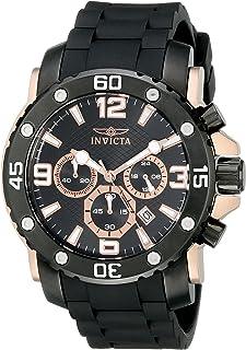Invicta 18167 Pro Diver Reloj Análogo para Hombre, 48 mm, rosa/negro