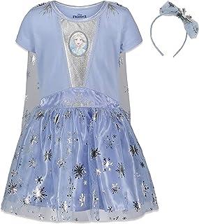 Frozen Elsa Anna Costume Short Sleeve Gown