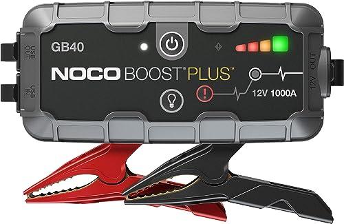 NOCO Boost Plus GB40, 12V 1000A UltraSafe Booster de Batterie au Lithium, Démarreur de saut de Voiture et Câbles de D...