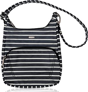Anti-Theft Classic Essential Messenger Bag (One Size, Black w/White Stripe - Exclusive Color)