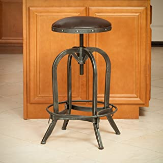 Christopher Knight Home Silla Barstool, brown and steel