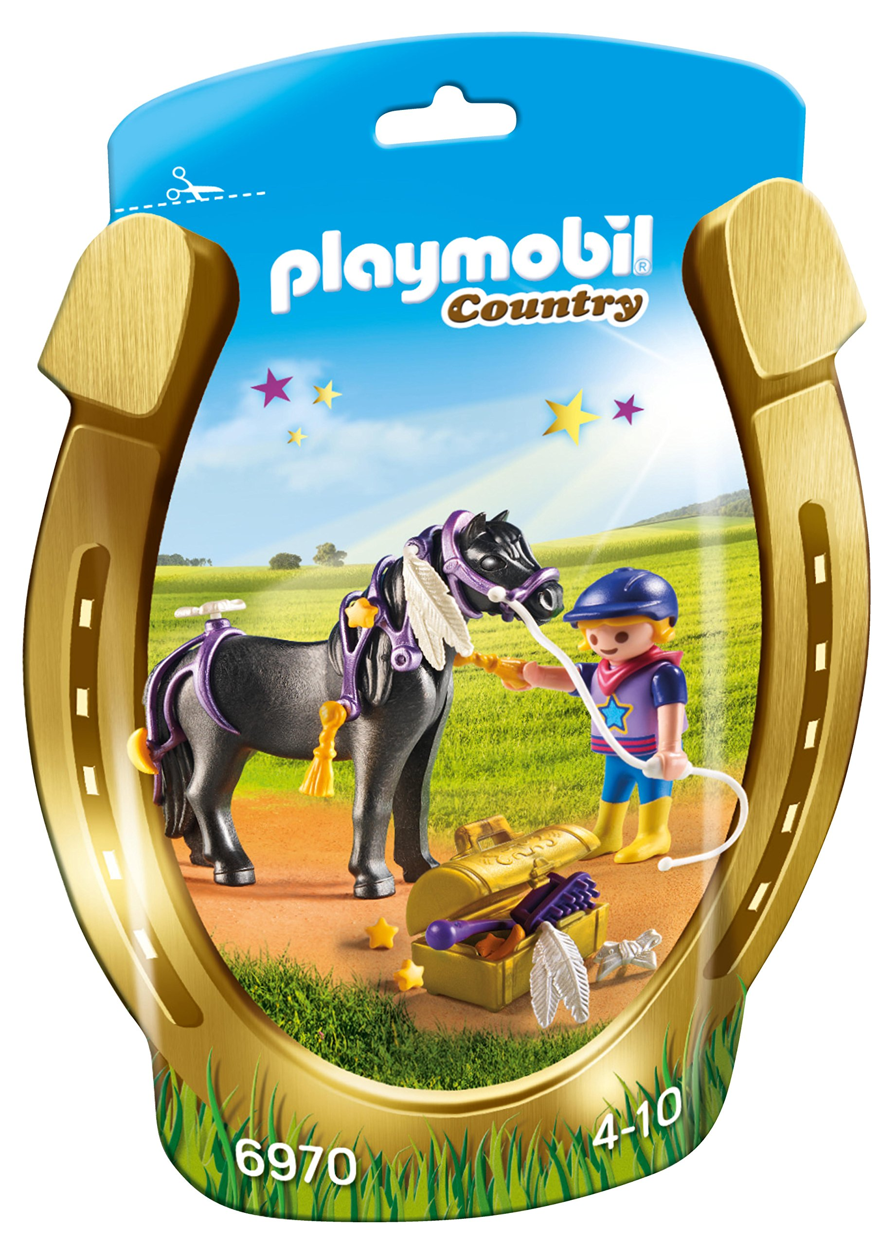Playmobil 6970 Groomer With Star Pony  Characters Toys