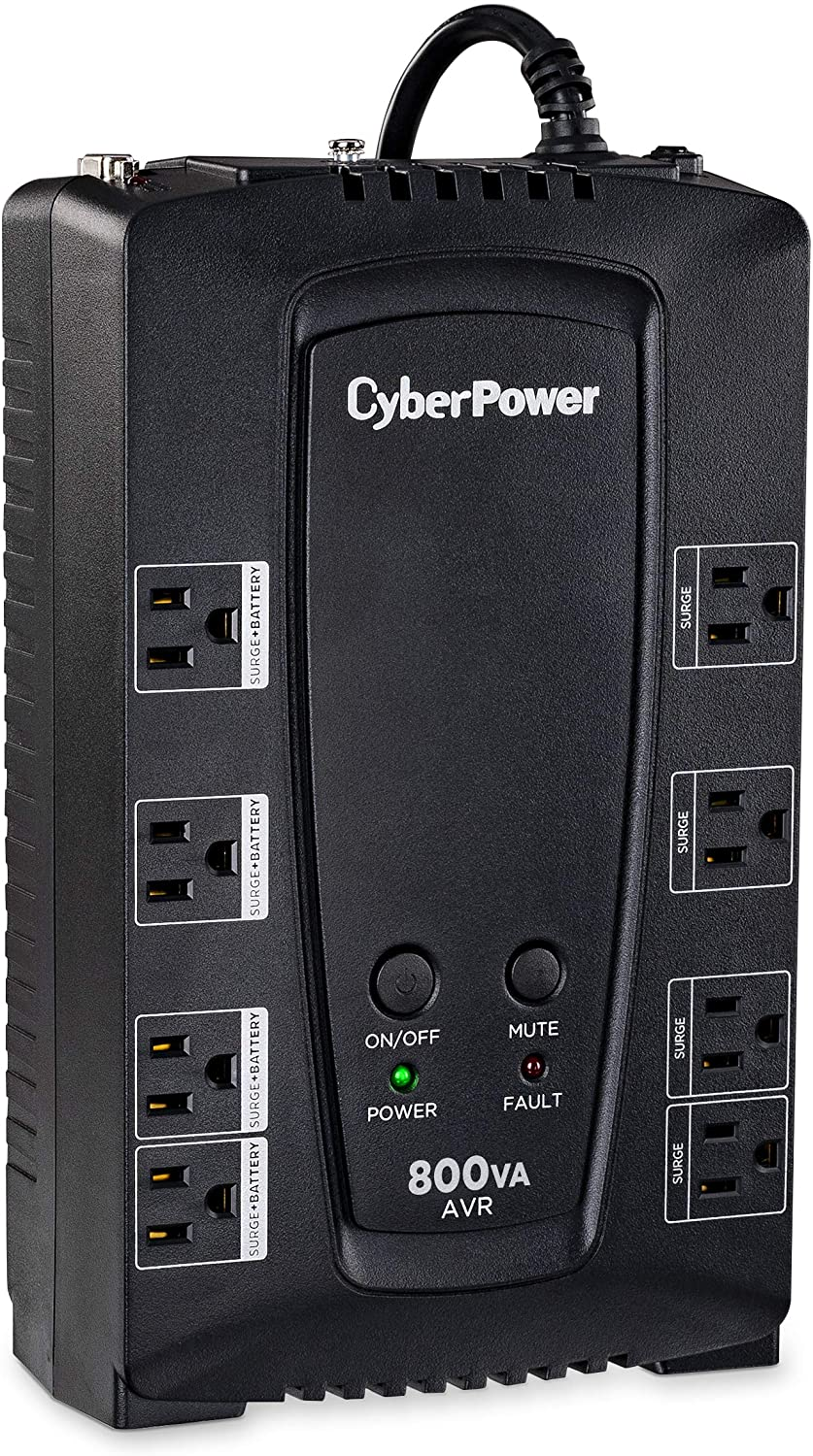 CyberPower CP800AVR AVR UPS System, 800VA/450W, 8 Outlets, Compact
