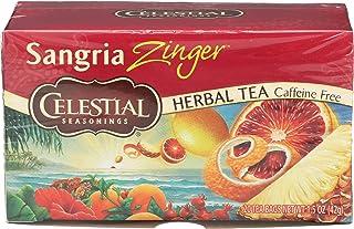 CELESTIAL Herbal Tea Sangria Zinger Bags, 20 Count