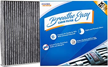 Spearhead Premium Breathe Easy Cabin Filter, Up to 25% Longer Life w/Activated Carbon (BE-643)