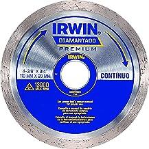 Irwin, Disco Diamantado Liso Premium 110 x 20 mm, Prata e Azul