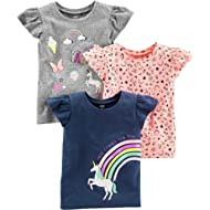 Toddler Girls' 3-Pack Short-Sleeve Graphic Tees