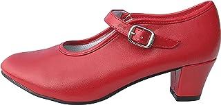 La Senorita Spanische Flamenco Schuhe - Rot für Kinder und Damen