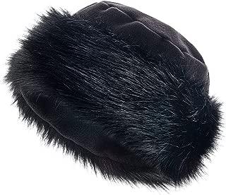 Faux Fur Trimmed Winter Hat for Women - Classy Russian Hat with Fleece