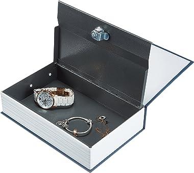 Amazon Basics Book Safe, Key Lock, Blue