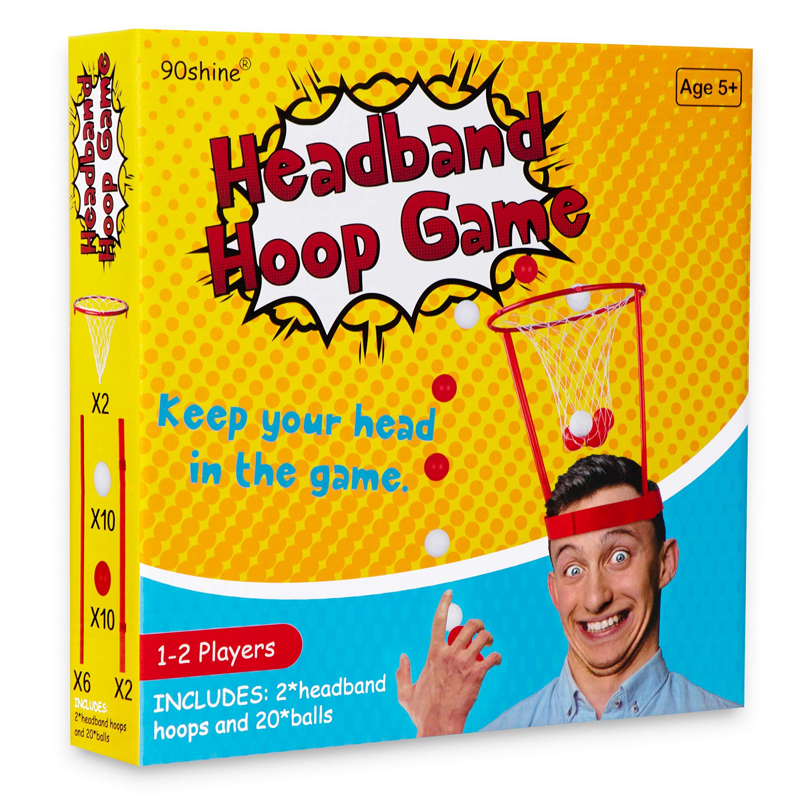 20shine Christmas Gag Gifts Headband Hoop Ball Game White Elephant ...