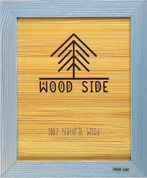 Rustic Wooden Picture Frame 8x12 100 Natural Solid Eco Distressed Wood For Wall Mounting Photo Frame Blue Turquoise