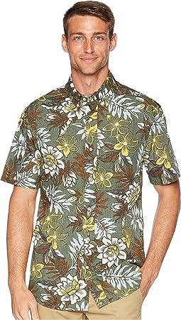 Vintage Hawaiian Floral Tailored Aloha Shirt