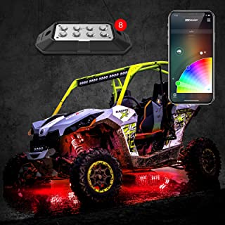 8pc 6W Rock Light with XKchrome Smartphone App-Enabled Bluetooth Advanced Kit