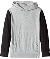 Quiksilver Kids - Guitar Magic Long Sleeve Hooded Tee (Big Kids)