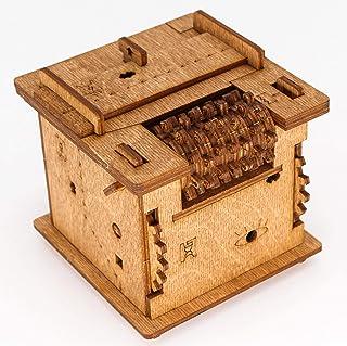 iDventure Cluebox – Escape Room in a Box – Schrödingers Cat – Casse-tête 3D en bois – Boîte cadeau – Questbox