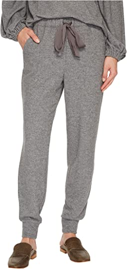 Brushed Jersey Joggers w/ Satin Tie