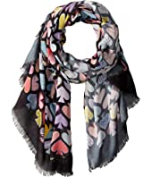 Kate Spade New York - Graffiti Spades Oblong Scarf