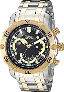 Invicta Men's Pro Diver Quartz Watch with Stainless-Steel Strap, Two Tone, 0.9 (Model: 22768)