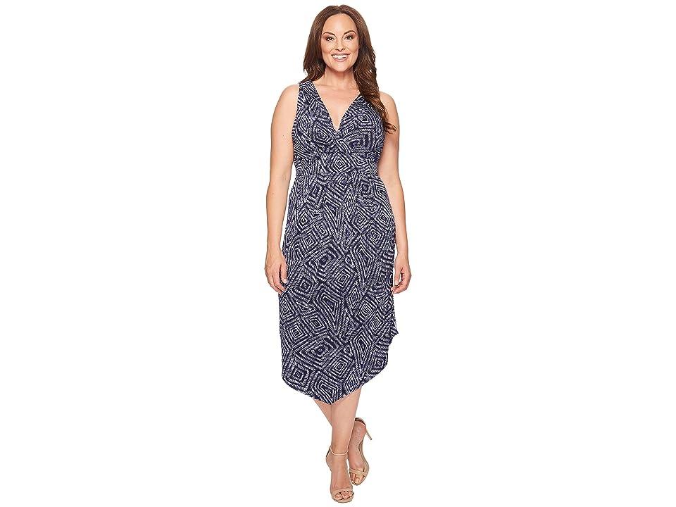 313bbe30fe3 Karen Kane Plus Plus Size Asymmetric Maxi Dress (Print) Women