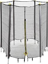 Relaxdays Unisex jeugd, zwart trampoline net, vangnet voor tuintrampoline, met 6 gevoerde stangen, veiligheidsnet, Ø 305 cm