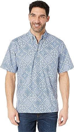 Diagonal Lahaina Classic Fit Popover Hawaiian Shirt