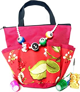 United Novelty 10 Pocket White Flowers Bingo Bag Gift Set with Daubers, Necklace, and Ticket Holder