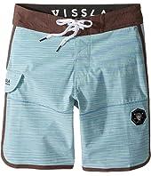 VISSLA Kids - Spaced Diver 4-Way Stretch Space Dye Boardshorts 17