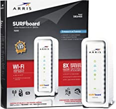 ARRIS SURFboard SBG6400 8×4 DOCSIS 3.0 Cable Modem / N300 Wi-Fi Router-Retail Packaging-White