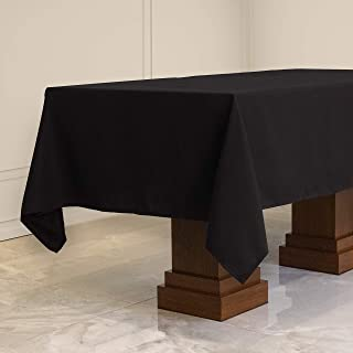 Kadut Rectangle Tablecloth (60 x 84 Inch) Black Rectangular Table Cloth for 5 Foot Table | Heavy Duty | Stain Proof Table Cloth for Parties, Weddings, Kitchen, Wrinkle-Resistant Table Cover
