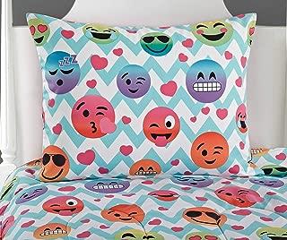 Idea Nuova Emoji Chevron Bed in A Bag, Full, Multi