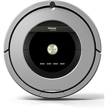 iRobot Roomba 886 aspiradora robotizada Sin bolsa Negro, Gris - Aspiradoras robotizadas (Sin bolsa, Negro, Gris, Alrededor, 58 dB, Alfombra, Laminado, Linóleo, Parqué, Madera, 60 min): Amazon.es: Hogar
