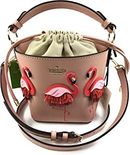 Kate Spade New York Flamingo Pippa By The Pool Drawstring Bucket Bag Warmvellum