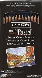 General Pencil 4401-24A Multi Pastel Pencils, 24-Pack